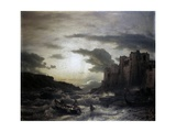 Sunset on a Headland in Porto Venere in the Gulf in Spezia Posters by Andreas Achenbach