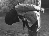 German General Anton Dostler'S Body Slumps after His Execution by a Firing Squad at Aversa, Italy Photo