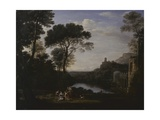Landscape with the Nymph Egeria Posters by Claude Lorrain