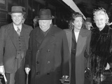 Winston Churchill Shortly after His Arrival in the United States, with Members of His Family Posters
