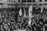 Chinese Women Cheering Madame Chiang Kai Shek's Speech During Women's Day Celebrations Photo
