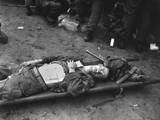 U.S. 21st Infantry Soldier Lies on a Stretcher at a Medical Aid Station Posters