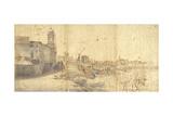 Rome from Trinit Dei Monti Kunstdrucke von Gaspar van Wittel