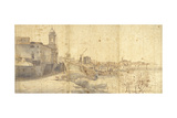 Rome from Trinit Dei Monti Prints by Gaspar van Wittel