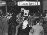 Crowded Boston Department Store Where Men's Suits and Top Coats Were on Sale for $11.00 Prints