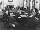 President Harry Truman with His Cabinet and Other Top Advisors, Feb. 11, 1949 Photo