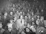 Bob Hope with a Uso Troupe in Womsan, Korea in Oct. 1950 Photo