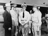 Secretary of War Robert Patterson (In Cowboy Hat) and Adm. Chester W. Nimitz (Center) in 1943 Photo