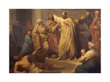 Saint Peter Reprimanding Ananias in the Presence of the Apostles, 1832 Prints by Pietro Sala