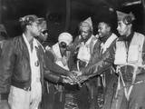 Six African American Air Force Gunners Join Hands Prints