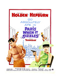 Paris When it Sizzles, William Holden, Audrey Hepburn, 1964 Prints