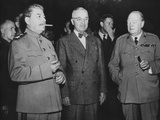 The 'Big Three' Leaders of the Allies Fighting Against the Axis Nations of World War 2 Prints