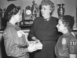 First Lady Bess Truman Purchases the First Box of Cookies to Start the Annual Girl Scout Fundraiser Photo