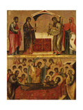 Presentation at the Temple/Death of the Virgin Poster von Paolo Veneziano