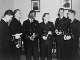 African American Ensign Jesse Brown Received His Wings at Nas Jacksonville on Oct. 23, 1948 Photo