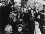 Women Weeping at Time of Communist Coup D'Etat in Prague by Supported by USSR in February 1948 Prints