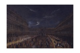 Good Friday Procession in Piazza San Marco, Venice, 18th C Art by Gabriele Bella