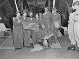 Released Pows, a B-29 Crew Pose with their Flight Nurses at Tachikawa Air Base, Japan Photo