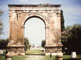 Roman Ear Triumphal Arch in Tarragona, Spain. 1st C. B.C. Photo