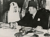 Prince Faisal L Bin Abdulaziz of Saudi Arabia and King Farouk of Egypt Posters