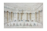 Banquet for the Wedding of the Duke of Polignac, 18th C Posters by Francesco Guardi
