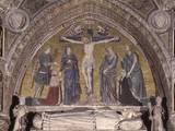 Crucifixion with the Doge Michele Morosini and His Wife, 1382-85, Mosaic, Venice, Italy Photo