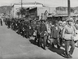 Chinese Civil War 1946-1949, Chinese Students Evacuate the City During the Battle of Kalgan Posters