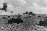 German Tanks Crossing Flat Fields in Ukraine in June-July 1941 Posters