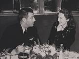 Navy Lieutenant Robert Taylor, with His Wife, Movie Star Barbara Stanwyck at the Stork Club Poster