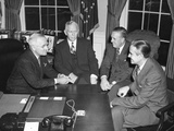 Truman Confers with Advisors Regarding Marshall Plan, Nov. 29, 1948 Photo