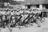 Communist Troops in Military Exercise in Laos, 1959 Prints