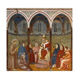 Saint Francis Preaching to Pope Honorius Iii Posters by  Giotto