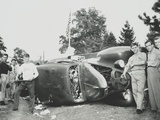 Rioters Overturn and Smash a Car on the Paul Robeson Concert Grounds Near Peekskill, N.Y. Photo