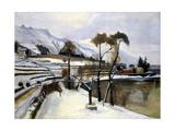 Winter Landscape Print by Penagini Siro