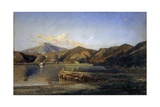 Lake Averno of Lucrino Prints by Giacinto Gigante