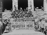 African Americans Encouraging Voter Registration at an Unidentified College Campus in 1948 Photo