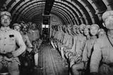 Chinese Soldiers Enroute to India in a U.S. DC-3 Transport Airplane, Ca. 1943 Prints
