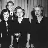 Margaret Truman Conducted a Broadcast from the White House as Part of the March of Dimes Campaign Photo
