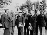 President Harry Truman with Top Advisers Upon His Return from the Wake Island Meeting Photo