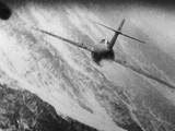 Gun Camera Photo of a Mig-15 Being Attacked by a USAF Fighter During the Korean War, 1950-53 Print