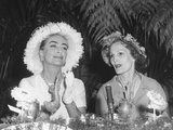 Pat Nixon and Actress Joan Crawford at Political Event, April 4, 1960. - (Bsloc 2014 14 47) Photo