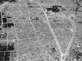 Aerial View of Bomb Damage in Tokyo, Japan, During the World War 2, 1945 Poster