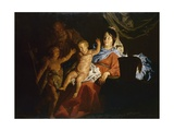 Holy Family Prints by Matthias Stomer