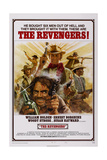 The Revengers, Center from Top: William Holden, Ernest Borgnine, Woody Strode (Right), 1972 Poster