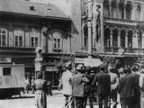 Public Hanging of a Serbian Martyr in a Public Square in Belgrade Photo
