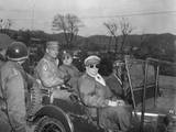Commanders of U.N. Forces in Korea, in a Jeep at a Command Post, Yang Yang Photo