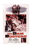 The Dam Busters, (Aka the Dambusters), Left Insert: Richard Todd, 1955 Prints