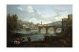 Tiber with the Ponte Rotto, Rome, 1725-50 Giclee Print by Francesco Zuccarelli