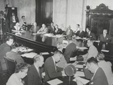 Wisconsin Senator Joseph Mccarthy, (Left, Back to Camera), Facing the Watkins Committee Photo