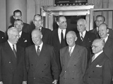 President Dwight Eisenhower with the Supreme Court on Nov. 13, 1953 Photo